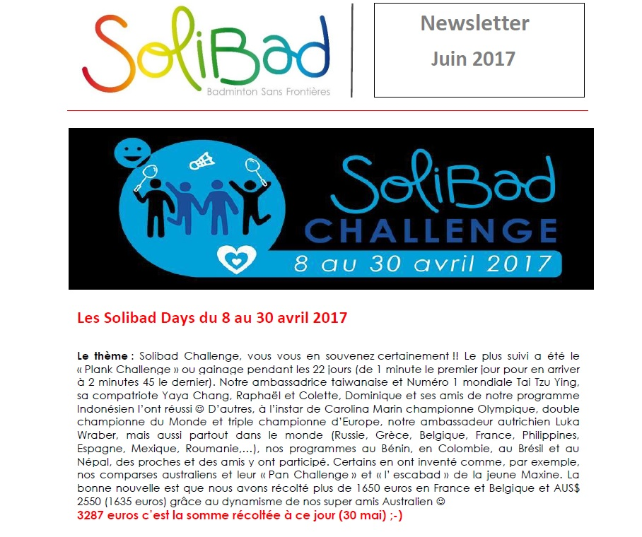 Solibad Newsletter June2017